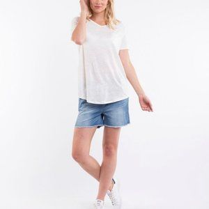 Thyme blue jeans shorts with belly support panel S